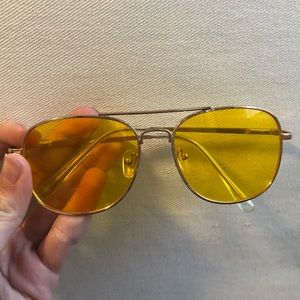 2baba54814f3 Yellow UO Translucent Aviator Sunglasses